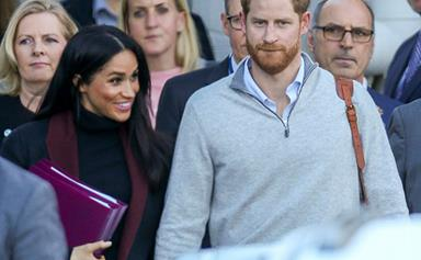 FIRST PHOTOS: Prince Harry and Duchess Meghan arrive in Sydney ahead of their royal tour