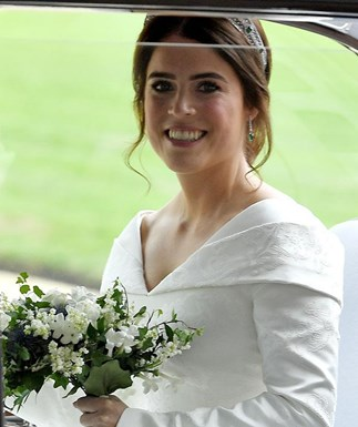Princess Eugenie had another wedding outfit you didn't see, and it was truly blinging