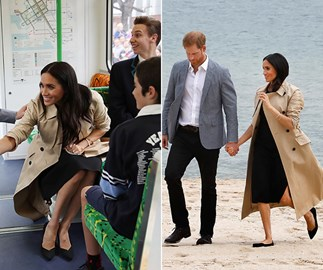 Duchess Meghan talks baby names while riding a Melbourne tram