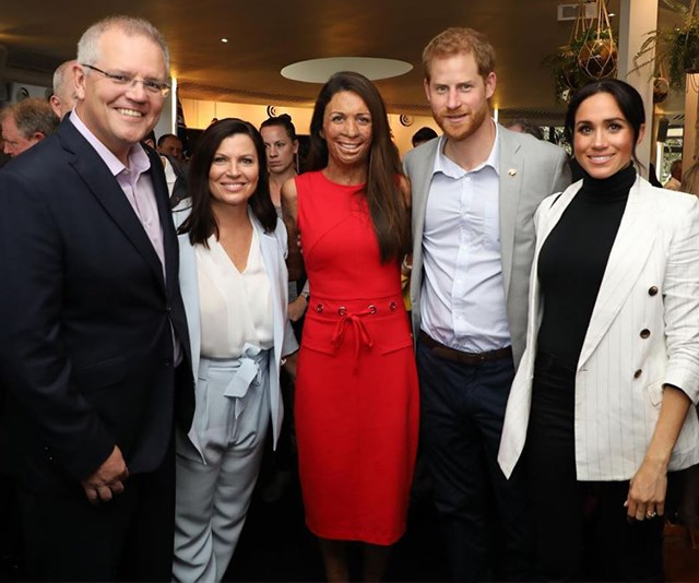 Turia Pitt rubs shoulders with royalty at a reception with Prince Harry and Duchess Meghan