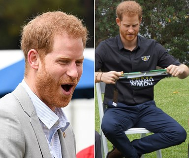 Prince Harry goes fully-fledged Aussie by wearing a pair of budgie smugglers