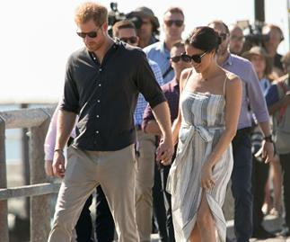 Duchess Meghan rejoins Prince Harry on the Royal Tour in Fraser Island