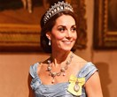 Duchess Catherine dazzles in the Cambridge Lover's Knot tiara and a special new accessory from The Queen