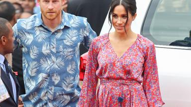 Prince Harry and Duchess Meghan go full-on floral in Fiji