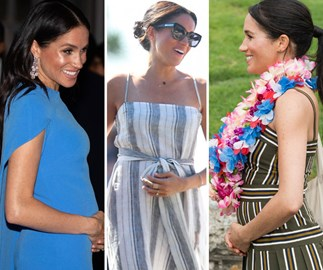 Meghan Markle lovingly holding her baby bump is the most adorable thing you'll see all day