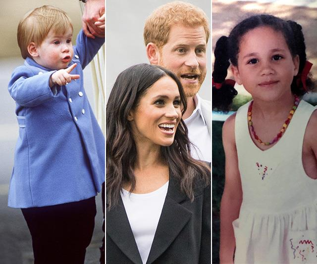 Here's what Meghan & Harry looked like as babies - so we can imagine exactly how Baby Sussex number two will resemble them