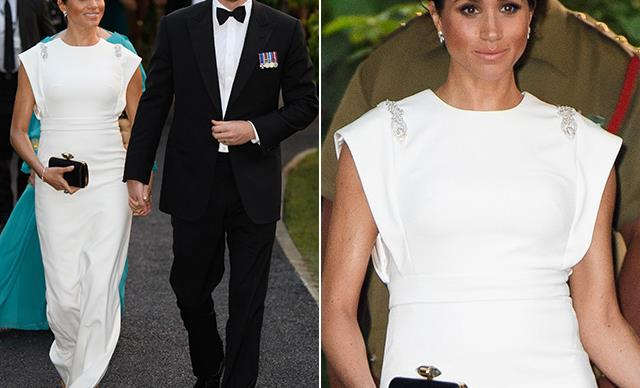Duchess Meghan's Tongan soiree look is a major throwback to her wedding day