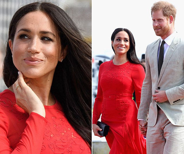 Meghan Markle's red dress suggests she and Harry were planning for a baby A LOT sooner than we thought