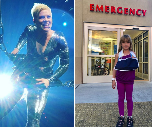 Pink's daughter Willow rushed to hospital after a fall from monkey bars