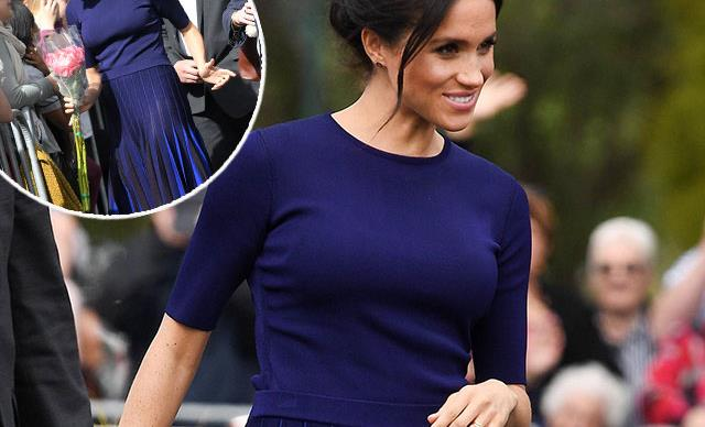 Meghan Markle ends tour with a royally awkward wardrobe malfunction