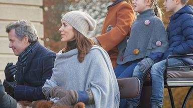 Crown Princess Mary and Crown Prince Frederik's winter wonderland as they enjoy a carriage ride with their children