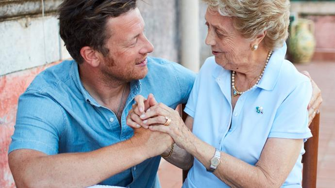 Jamie Oliver learns the secrets of Italian Nonnas in Channel 10's new series