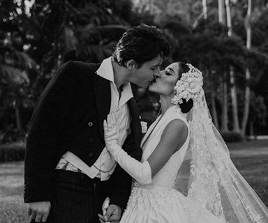 Lisa from The Veronicas gets married in surprising royalty-inspired dress