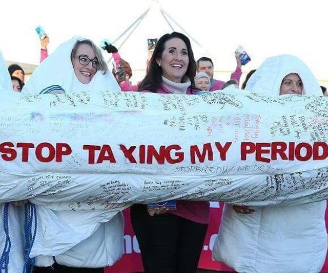 Rochelle was one of the key figures in the fight against the tampon tax. *(Image: Instagram @sharethedignityaustralia)*
