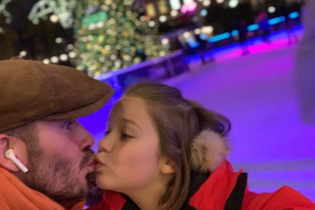 Parents are kissing their kids on the lips in support of David Beckham