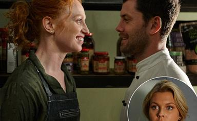 Home and Away's love triangle: Ziggy doesn't like what she's seeing