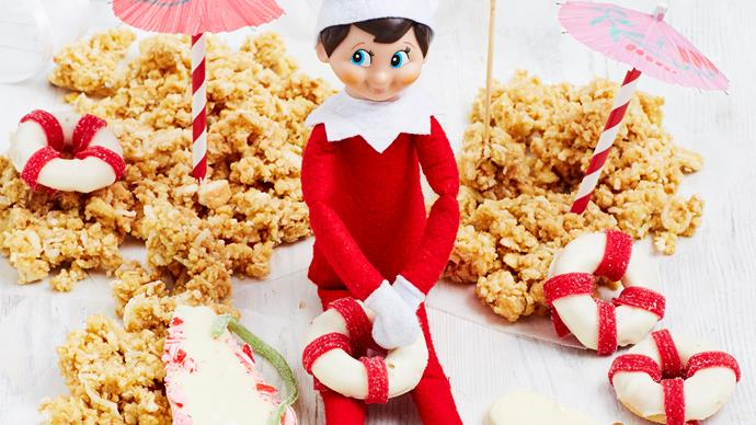 A very Elfy Christmas! We've given Elf on the Shelf an edible makeover