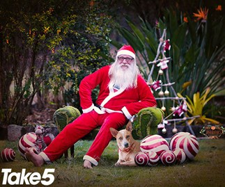 Real life: I'm the barefoot Santa Claus