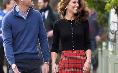 Duchess Catherine dons festive tartan as she and Prince William host Christmas bash