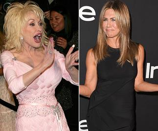 Jennifer Aniston's reaction to Dolly Parton's threesome suggestion is HILARIOUS
