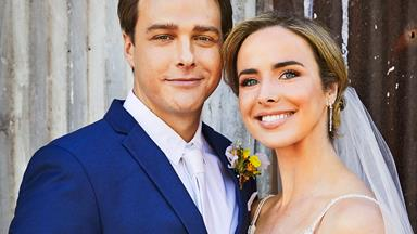 Home and Away's Colby and Chelsea tie the knot! See all the photos from their rustic wedding day