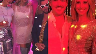 Inside Karl Stefanovic and Jasmine Yarbrough's wild Studio 54 themed after party