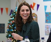 Duchess Catherine wore a beautiful polka dot dress for a charitable hospital visit with Prince William