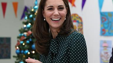 Duchess Catherine wears her favourite polka dots for festive event