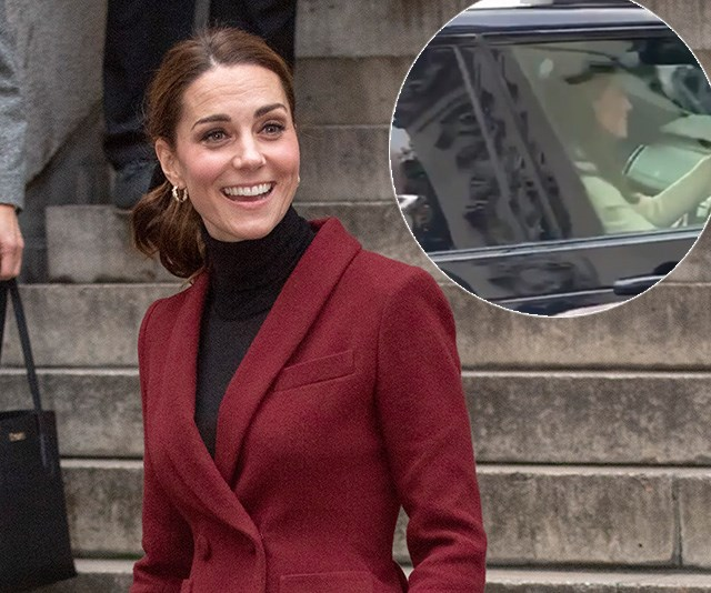 Kate Middleton surprises fans as she drives into Buckingham Palace for secret meeting