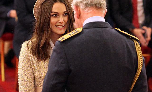 Keira Knightley bedazzles Prince Charles in unexpected outfit as she receives top royal honour