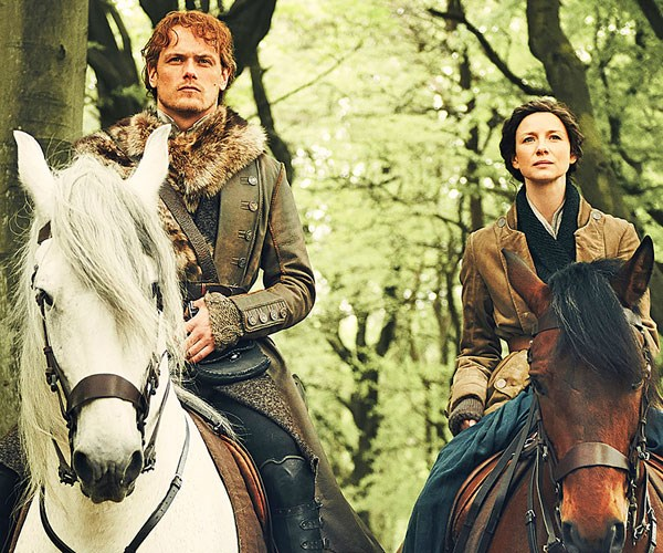 Outlander's Sam Heughan and Caitriona Balfe share the joys of working with each other on the popular series