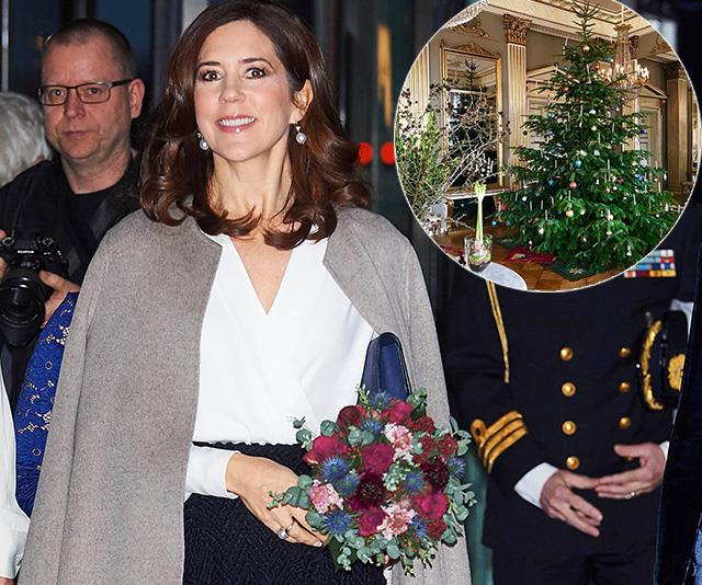 Crown Princess Mary's Christmas tree photo tells us a lot about life in the Palace