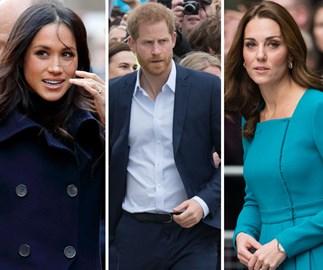 Meghan Markle, Prince Harry, Kate Middleton