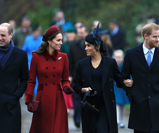 Duchesses Kate and Meghan walk side-by-side to the Royal's traditional Christmas church service