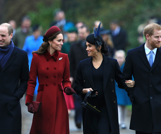 Duchesses Kate and Meghan walked side-by-side to the Royal's traditional Christmas church service