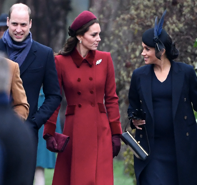 Prince William snubbed Meghan Markle on Christmas Day and it was caught on camera