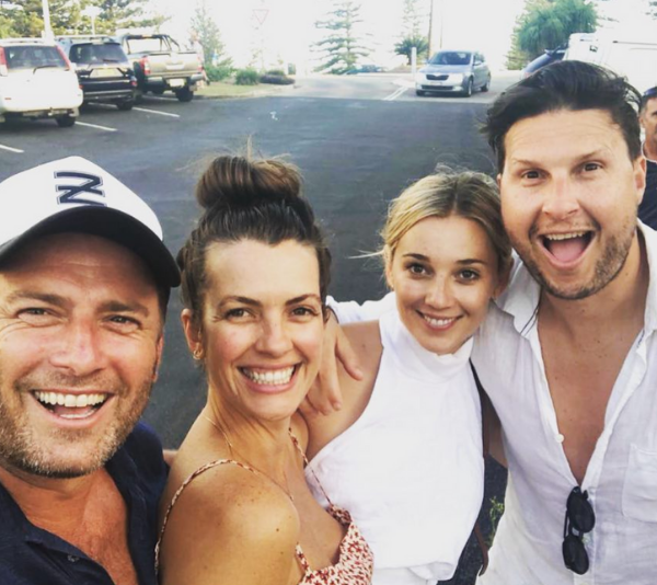 Karl Stefanovic and Jasmine Yarbrough share happy snaps from their Yamba holiday