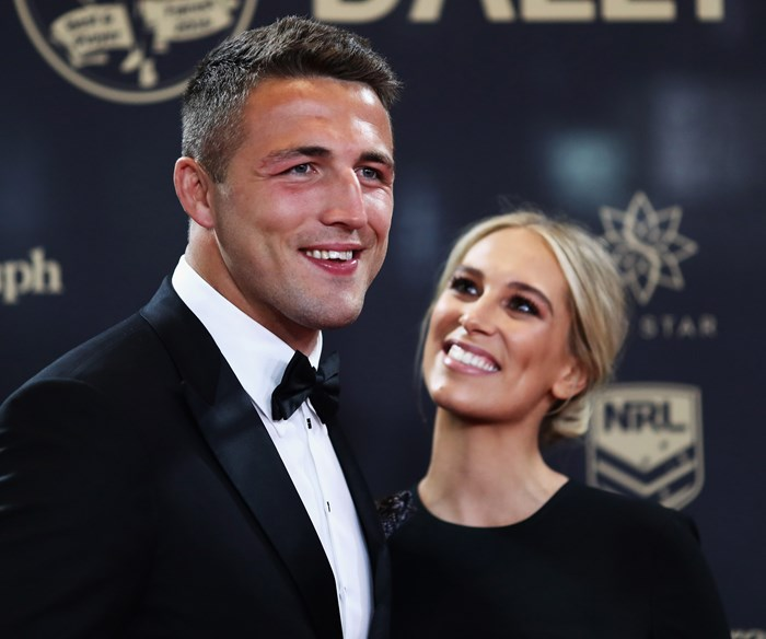 Sam Burgess and Phoebe Burgess split less than a month after the birth of their son