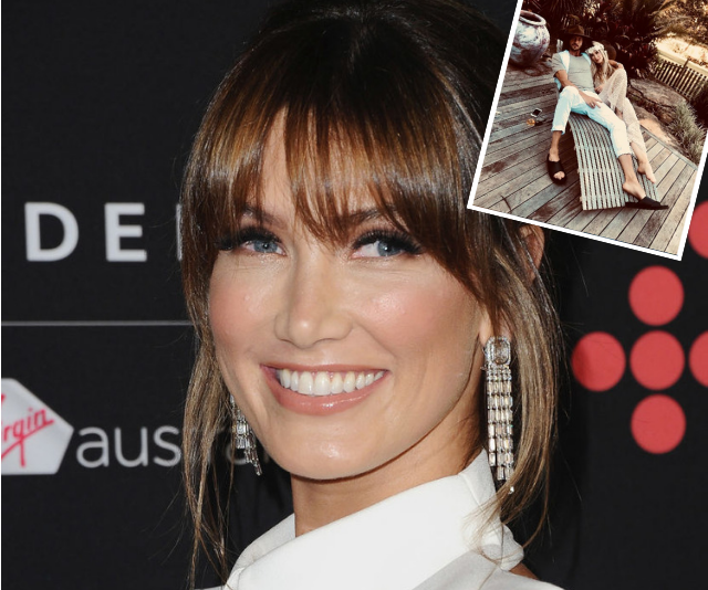 Delta Goodrem shares rare loved-up images with boyfriend Matthew Copley