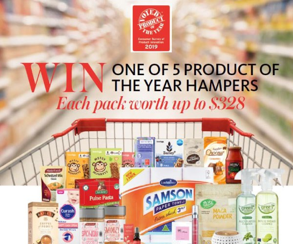 Win! 1 of 5 Product of the Year Hampers