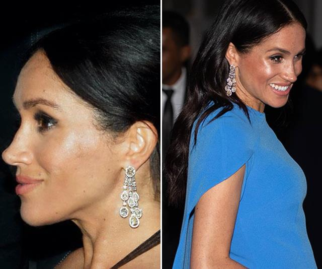 The Duchess' dazzling jewels really add a special sparkle to her look. *(Source: Getty)*