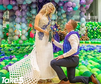 Real life: My entire wedding was made out of balloons!