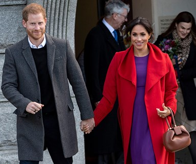 Duchess Meghan reveals her due date at her first joint engagement of 2019 with Prince Harry