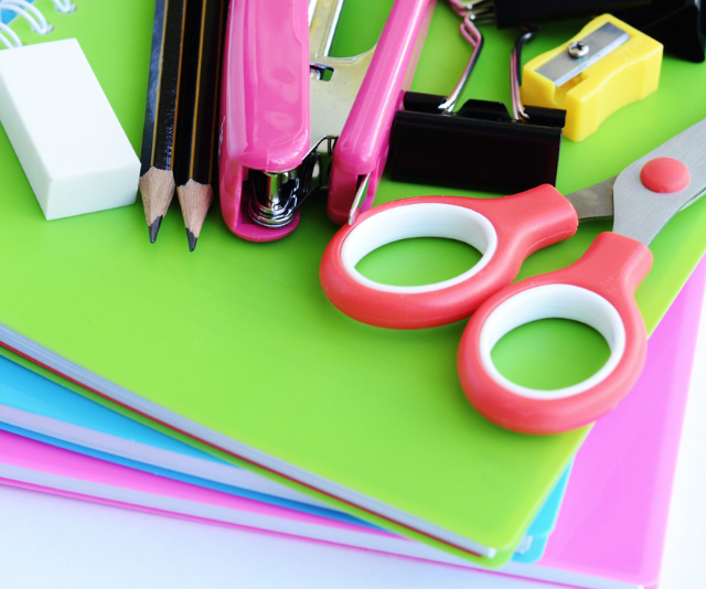 Back to school stationery lists from kindergarten to secondary school