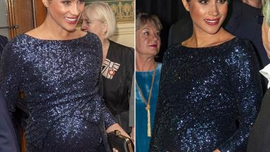 Duchess Meghan STUNS in sequined gown with a touching tribute to Princess Diana