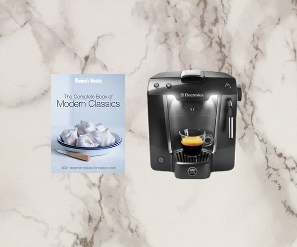 Win a coffee machine and cookbook!