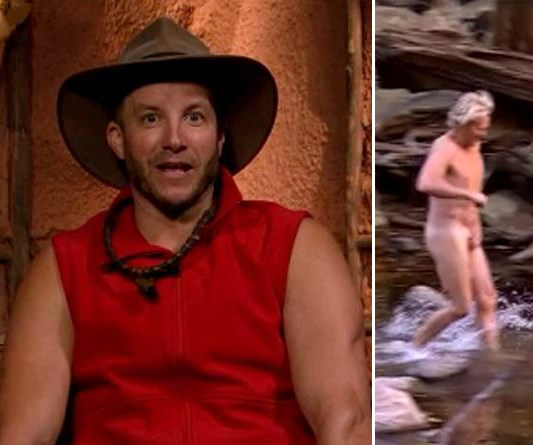 EXCLUSIVE VIDEO: I'm a Celeb's Dermott Brereton reveals ALL during a nudie run in the jungle