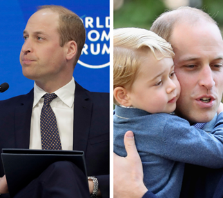 Prince William chokes up talking about his children
