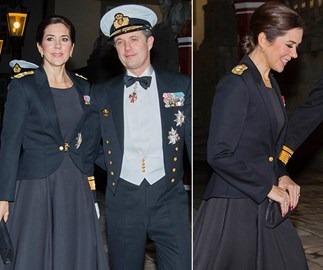 Crown Princess Mary and Crown Prince Frederik put on a dazzling display in military uniform