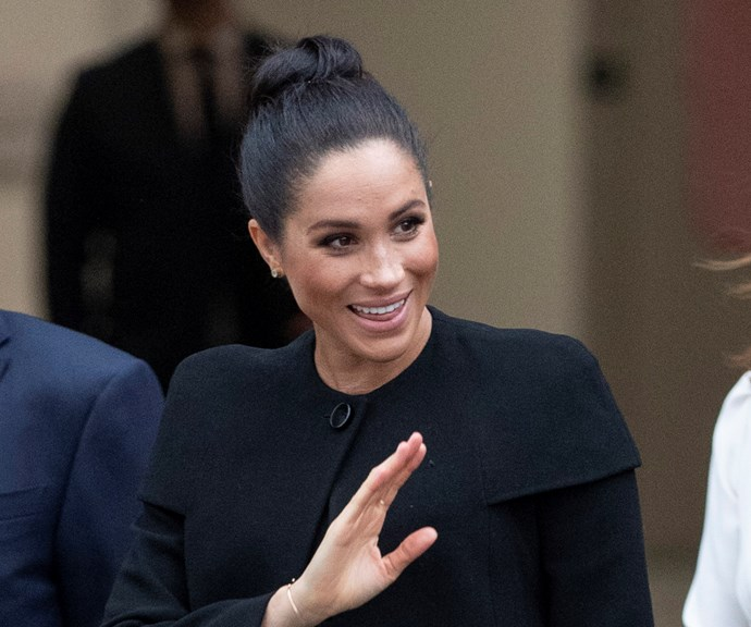 Meghan Markle waving givenchy